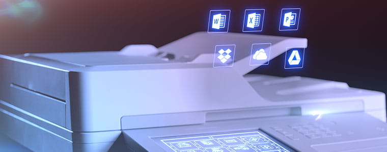 """Brother MFC-L9570CDW automatinis dokumentų tiektuvas su """"Windows"""" simboliais viršiuje"""