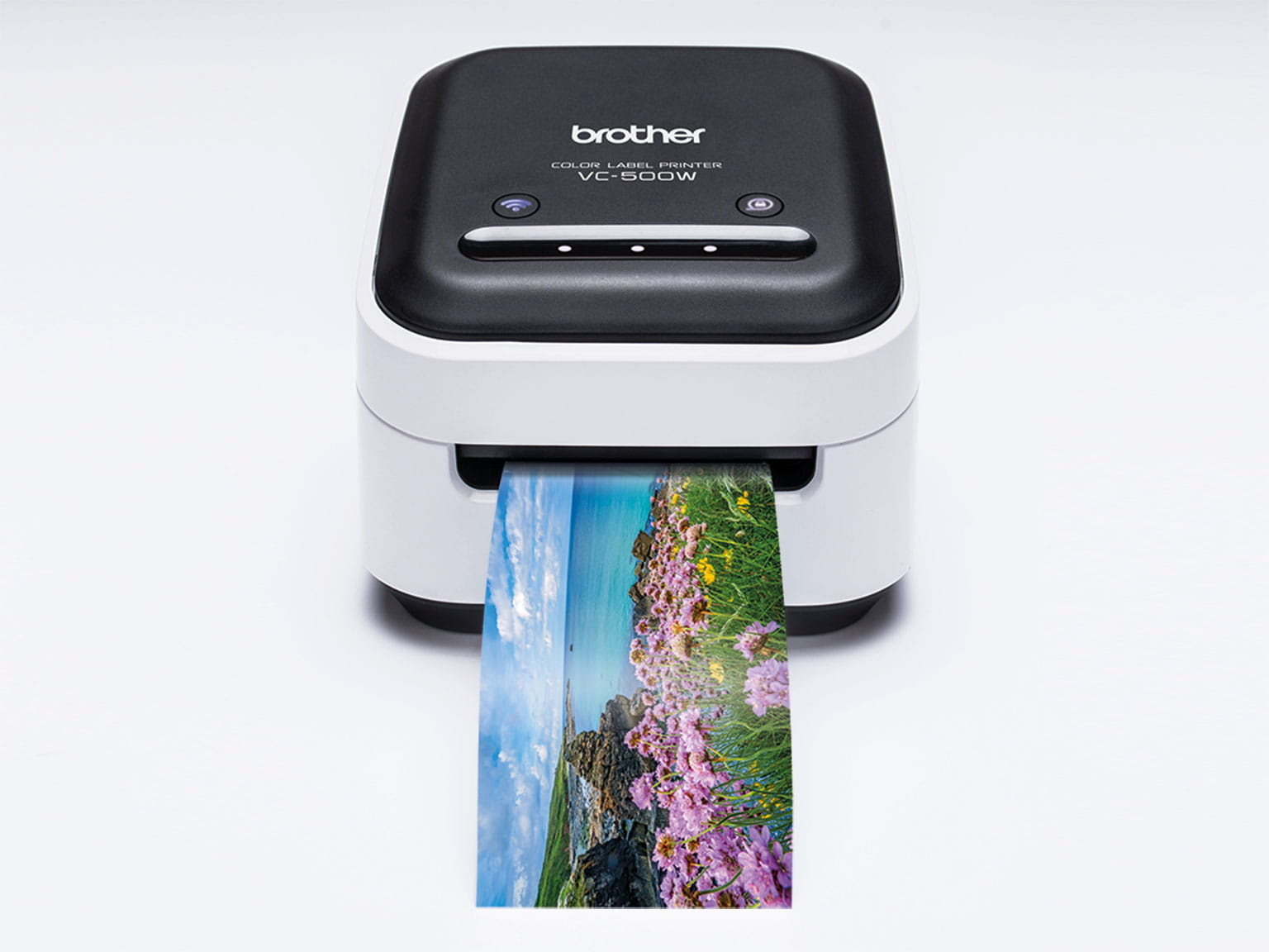 Panoramic photo printing from the Brother VC-500W colour label printer