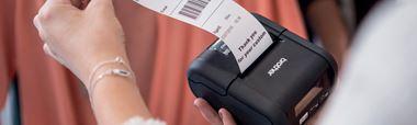 Brother RJ-malliston mobiilitulostimilla voi tulostaa sekä kuitteja että vuoronumeroita