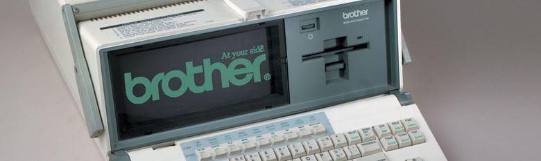 En historisk Brother datamaskin