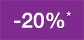 -20% salgsfremmende rabatt