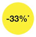 -33 % rabatt ikon