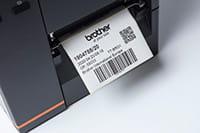 Stregkodelabels printet med en TJ-labelprinter