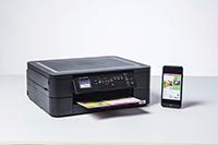 Monipuoliseen DCP-J572DW tulostimeen voit tulostaa älypuhelimestasi