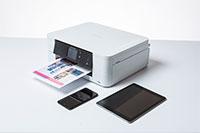 Brother DCPJ774DW tulostimeen voit tulostaa tabletilla ja älypuhelimella