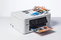 MFCJ497DW spausdintuvas spausdina spalvotus dokumentus