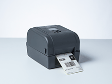 TD-4T desktop label printer printing shipping label