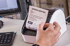 QL1100 skriver ut etikett i varehus