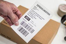 QL-1100 label med en printbredde på 101,6 mm