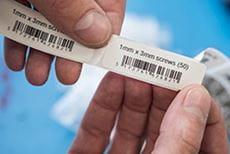 Label med stregkode