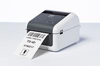Brother TD-4410 stalinis etikečių spausdintuvas spausdina etiketę su brūkšniniu kodu