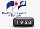 Logo Brother 50 år i Europa