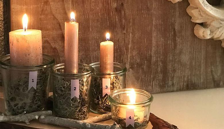 Kynttilöiden koristelu