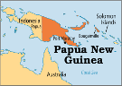Kart over Papua New Guinea