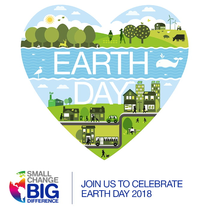 Earth Day logo formet som et hjerte