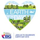 Earth Day logo formet som et hjerte