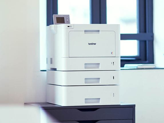 Brother printer in an SME office as part of a managed print service