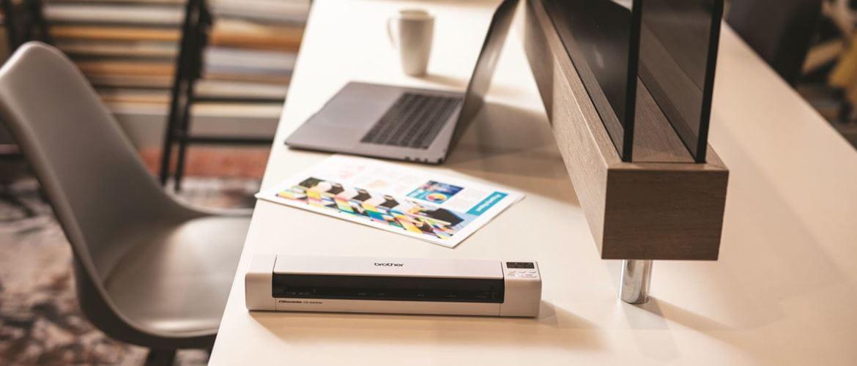 Como otimizar o espaço no seu local de trabalho com scanners Brother