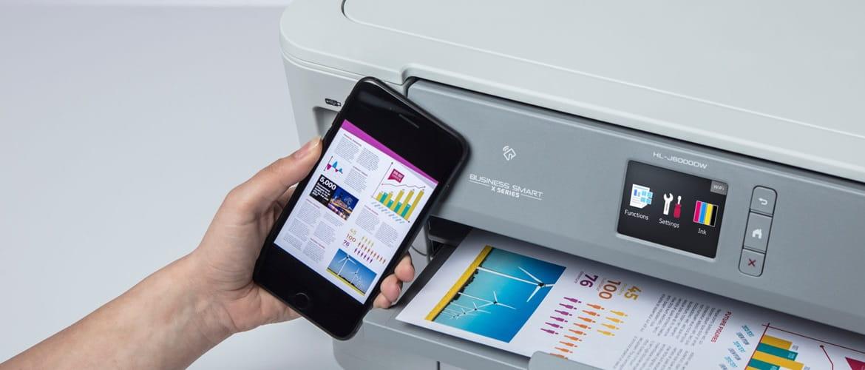 impressão através de dispositivos móveis