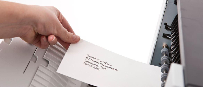 Como imprimir envelopes para a sua empresa com Brother