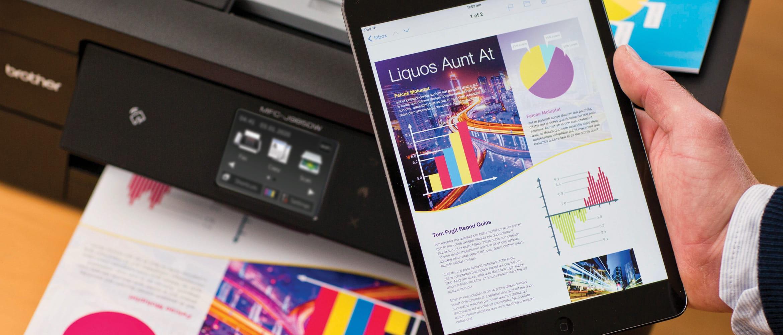 Tablet Brother e Impressora Multifuncional