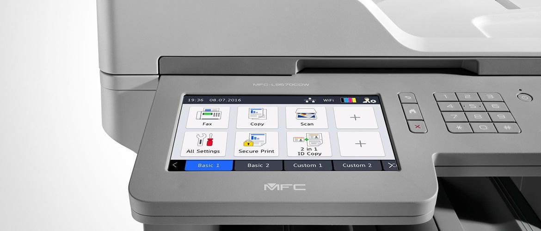 Impressoras Brother com função de impressão segura
