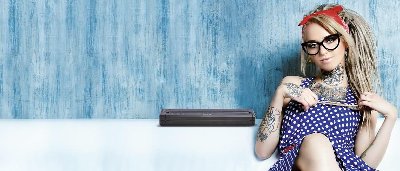Soluções impressoras portáteis PJ Brother para tatuadores profissionais