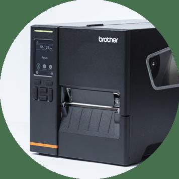 Impressoras de etiquetas industriais Brother com design robusto