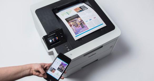Impressora WiFi Brother con conexão móvel
