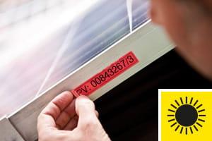 Fitas resistentes à luz solar