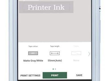 Passo 4 App Design&Print Brother