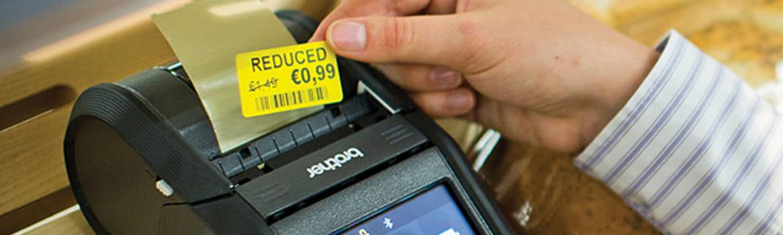 Etiqueta de preço e impressora portátil RJ Brother