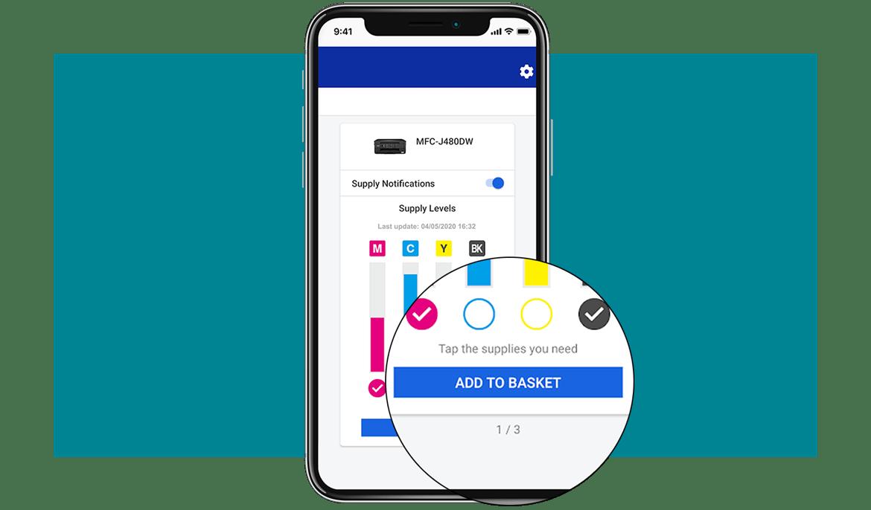 My supplies app - Adicionar consumíveis ao cesto