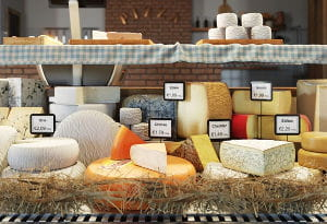 Balcão de queijo