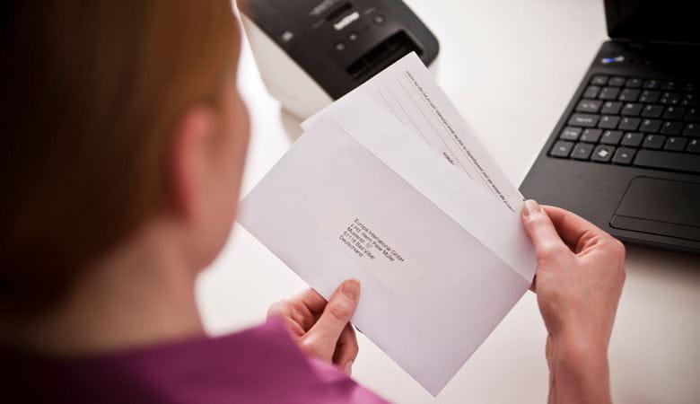 Etiquetas para envelopes