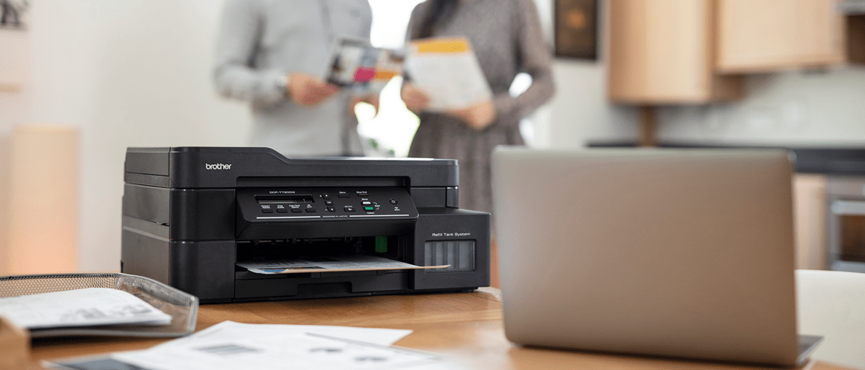 inkjet printer Brother MFC-J895DW sat on table