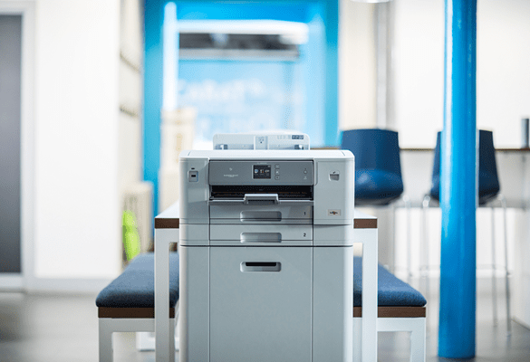 Inkjet printer in office setting