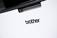DCP-1623W close up of brother logo
