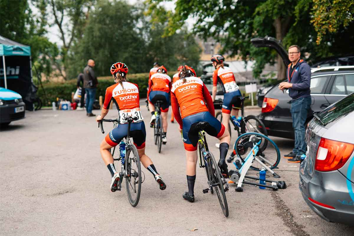 Group of Fusion RT cyclists