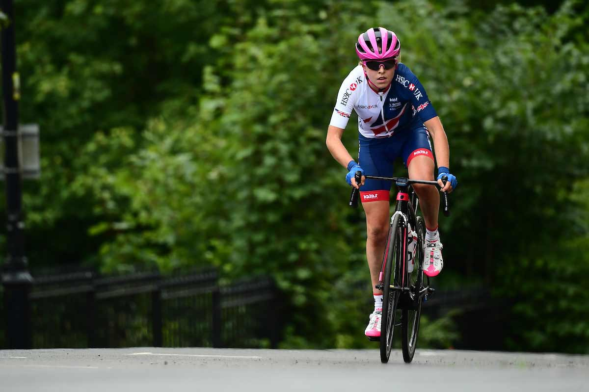 Sophie Wright on a road bike