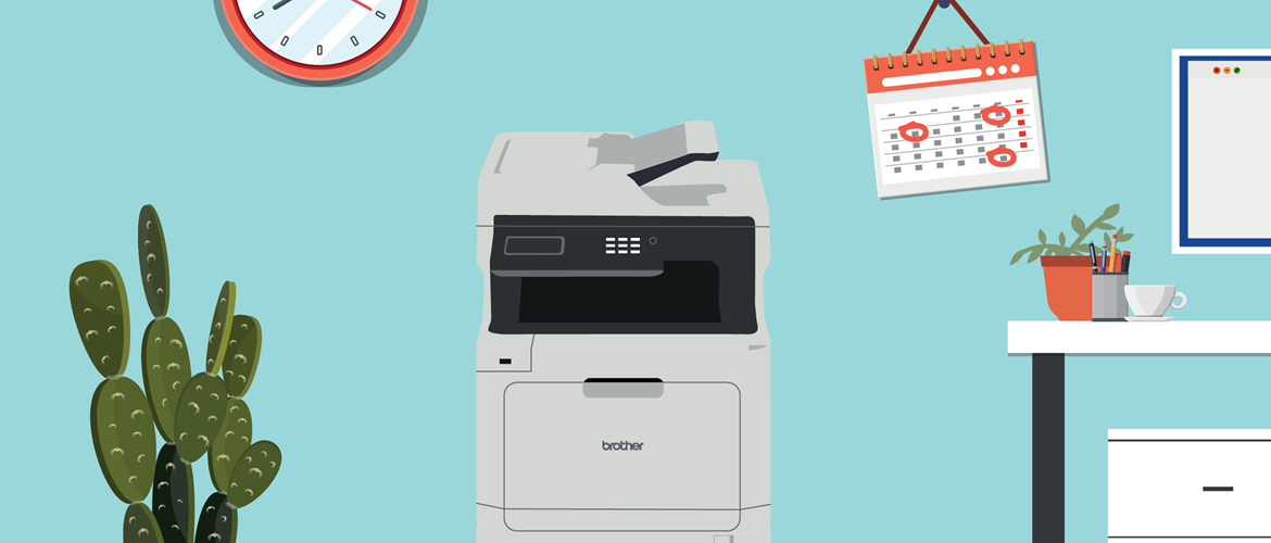 brother printer in home office environment
