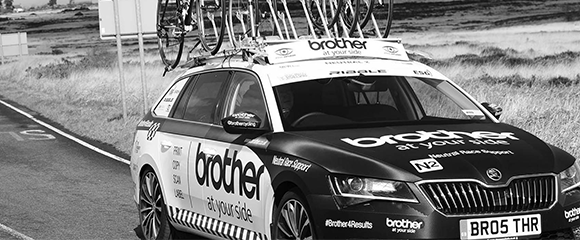 brother cycling race car