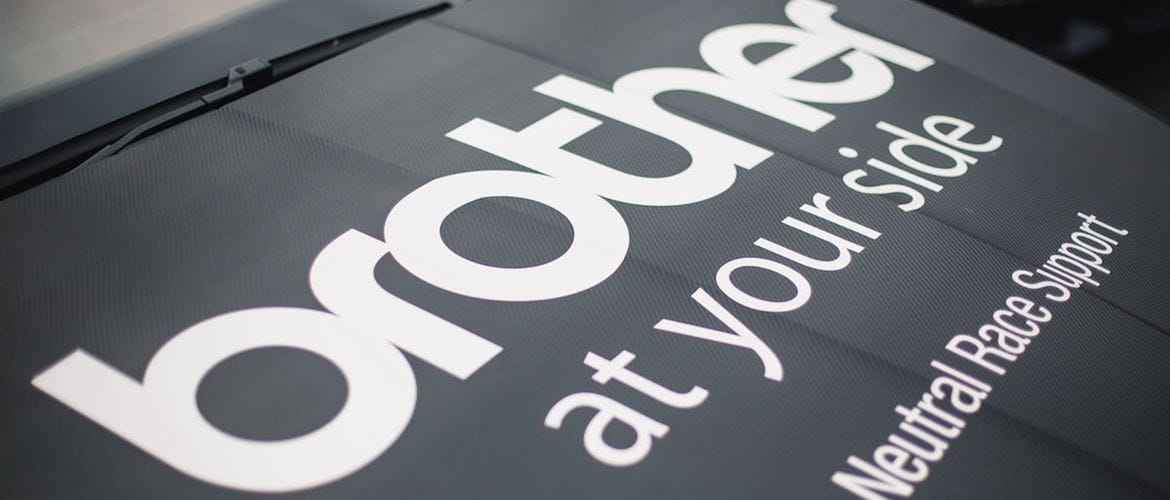 Brother 'at your side' Neutral Race Support vehicle bonnet livery