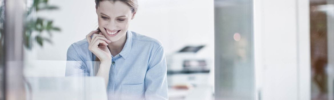 woman in an office environment