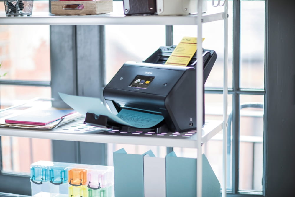 Scanner on a shelf