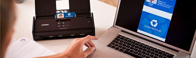 scanner on a desk