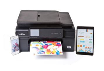 Brother printer with smartphone and tablet computer