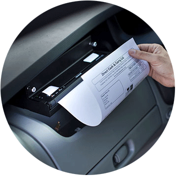 Brother PJ-7 printer printing A4 output in a vehicle mount