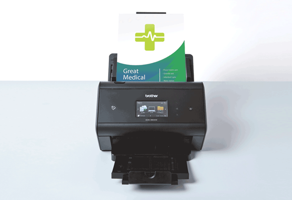 a brother scanner printing a healthcare document