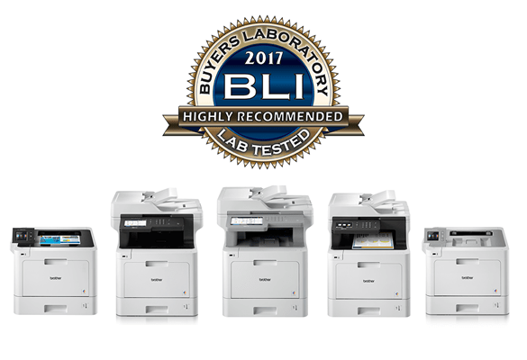 Range of Brother colour laser printers highly recommended by BLI